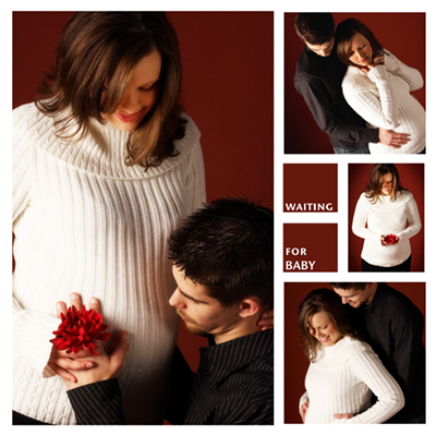 Christmas Pregnant photography first child